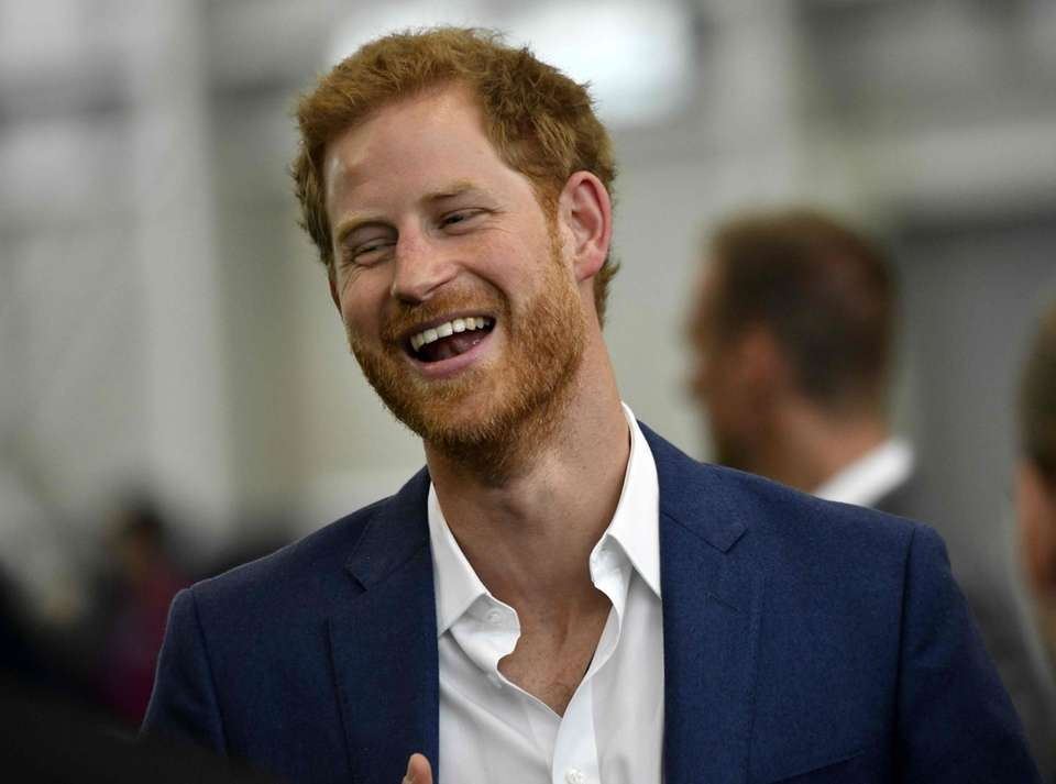 Prince Harry attends a Coach Core training session
