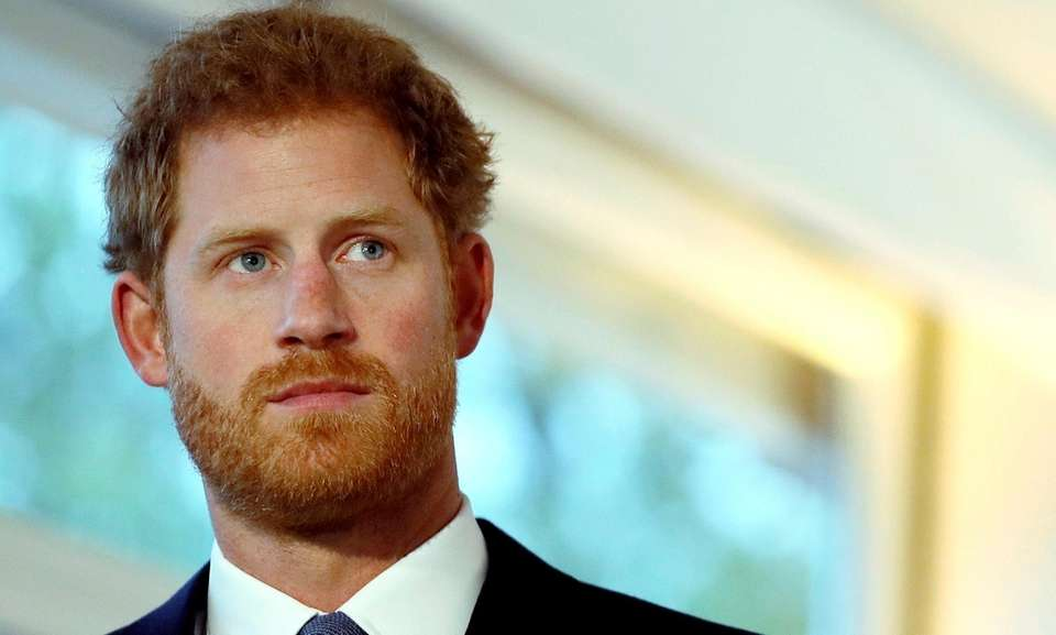 Prince Harry watches a short film at an