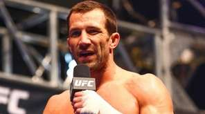 Luke Rockhold answers questions from media at a