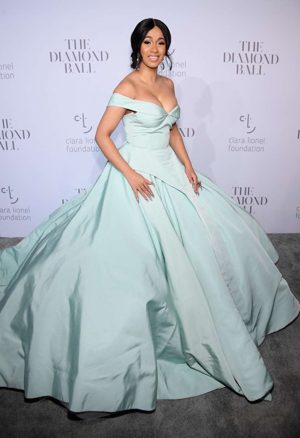 Cardi B attends Rihanna's third annual Diamond Ball
