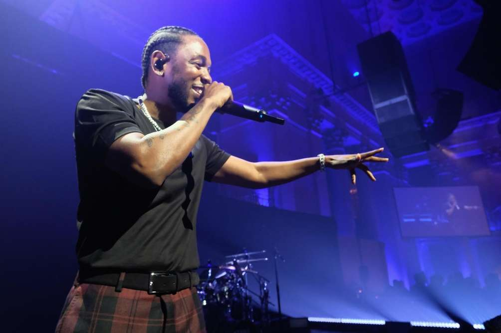 Kendrick Lamar performs onstage during Rihanna's third annual