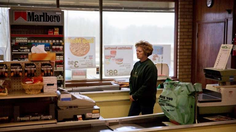 Mary Stuckey, who owns the only market in