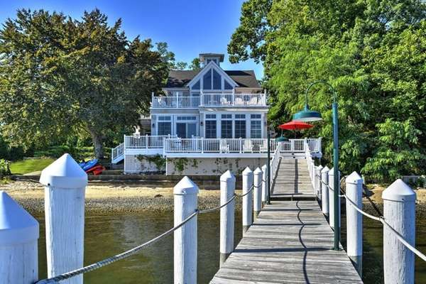 The 1.71-acre Shelter Island property includes a new