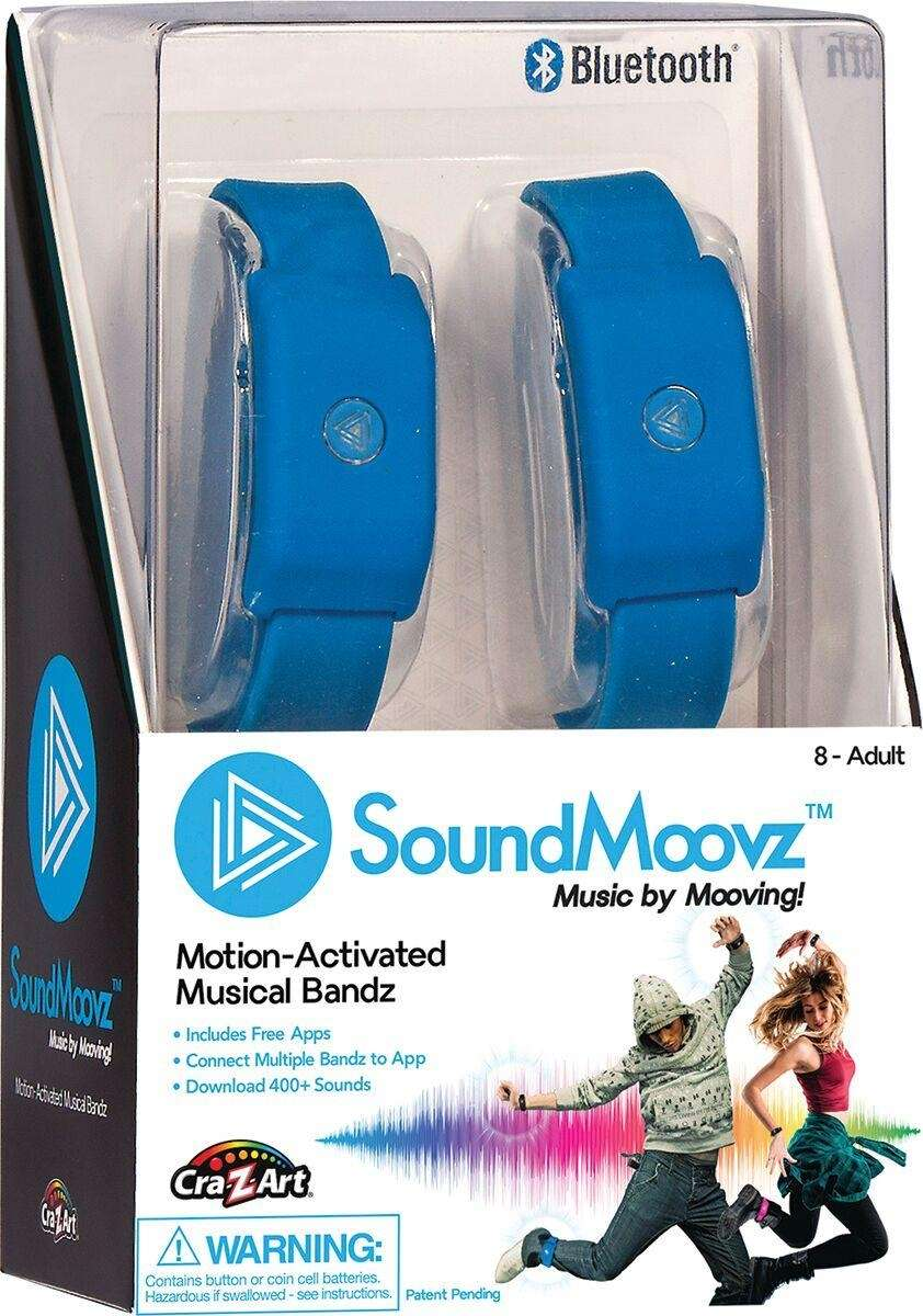 The motion-activated device plays music and sound effects