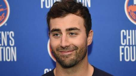 New York Islanders forward Jordan Eberle speaks to