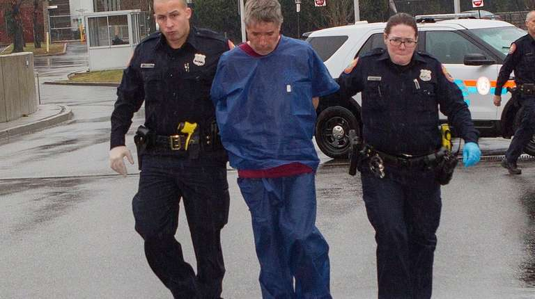 Michael Gallagher, of Levittown, seen after his arrest