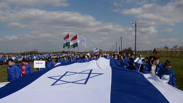 Participants of the yearly March of the Living