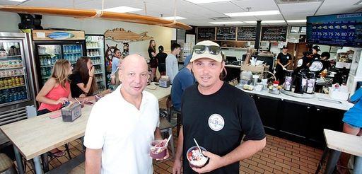 Co-owners Jim Kalomiris and Jason Mazzarone on Aug.