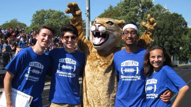 The Centereach High School Cougars kicked off homecoming