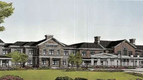 Rendering of the proposed assisted living facility in