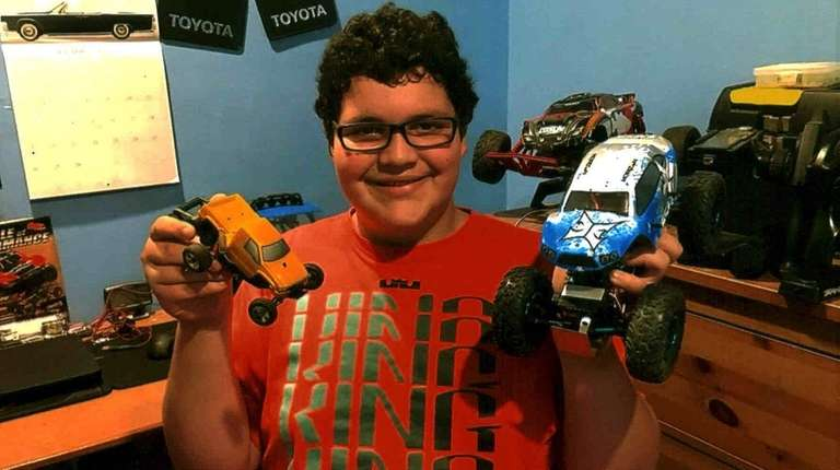 Kidsday reporter Evan Grein with his RC cars.