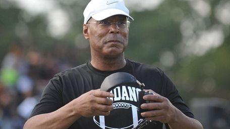 Wyandanch coach Dwight Singleton at a home game