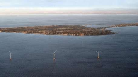 The Deepwater Wind farm, two miles south of