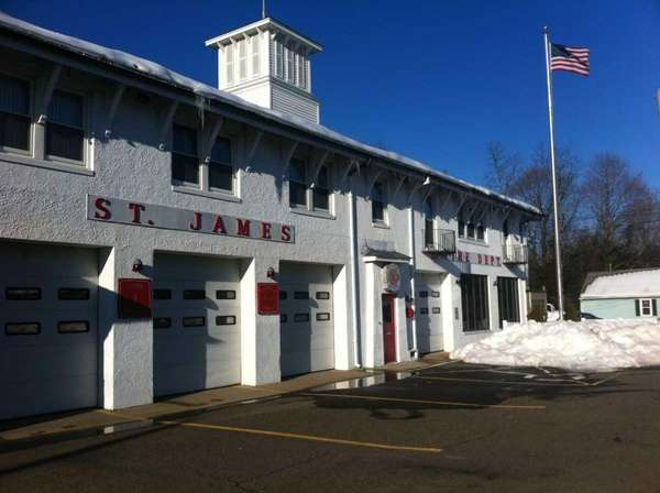 The St. James Fire Department's building on Route