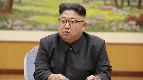 North Korean leader Kim Jong Un attends
