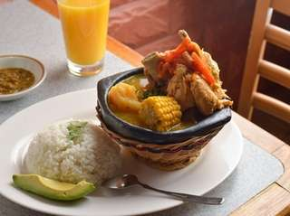 Sancocho mixto was one of the Colombian soups