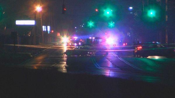A crash on Smithtown Avenue near Second Street