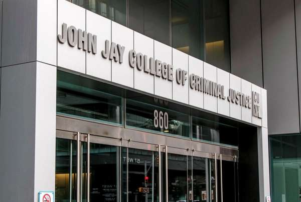An entrance to John Jay College of Criminal