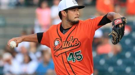 Ducks relief pitcher Jake Dunning enters the game