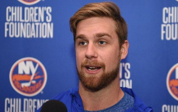 New York Islanders defenseman Calvin De Haan speaks