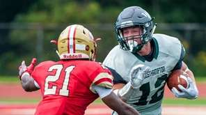 Westhampton High School Football player Dylan Laube (12,