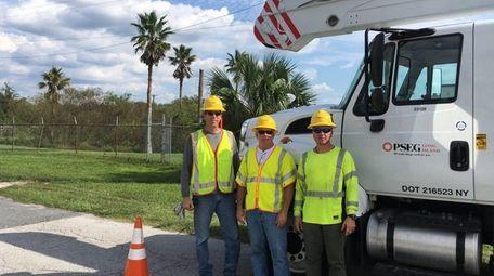 PSEG Long Island employees Bill Bousson, Michael McLaughlin