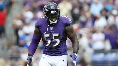 Outside linebacker Terrell Suggs of the Baltimore Ravens