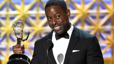 Sterling K. Brown accepts the award for outstanding