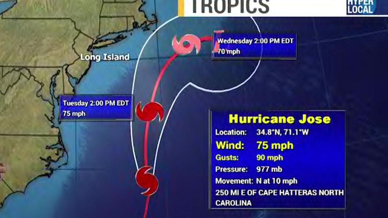 News 12 meteorologist Bill Korbel on Monday, Sept.