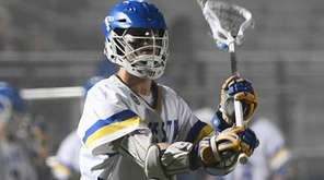 Hofstra attacker Josh Byrne looks to pass the
