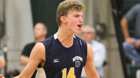 Northport's Andrew Watts celebrates a point during a