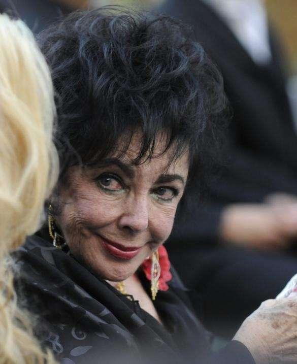 Actress Elizabeth Taylor attends Michael Jackson's funeral service