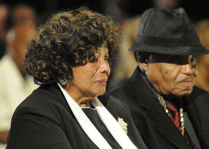 Katherine Jackson and Joe Jackson attend Michael Jackson's