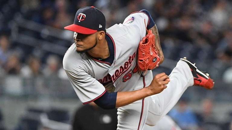 Twins starter Ervin Santana, whom the Yankees might