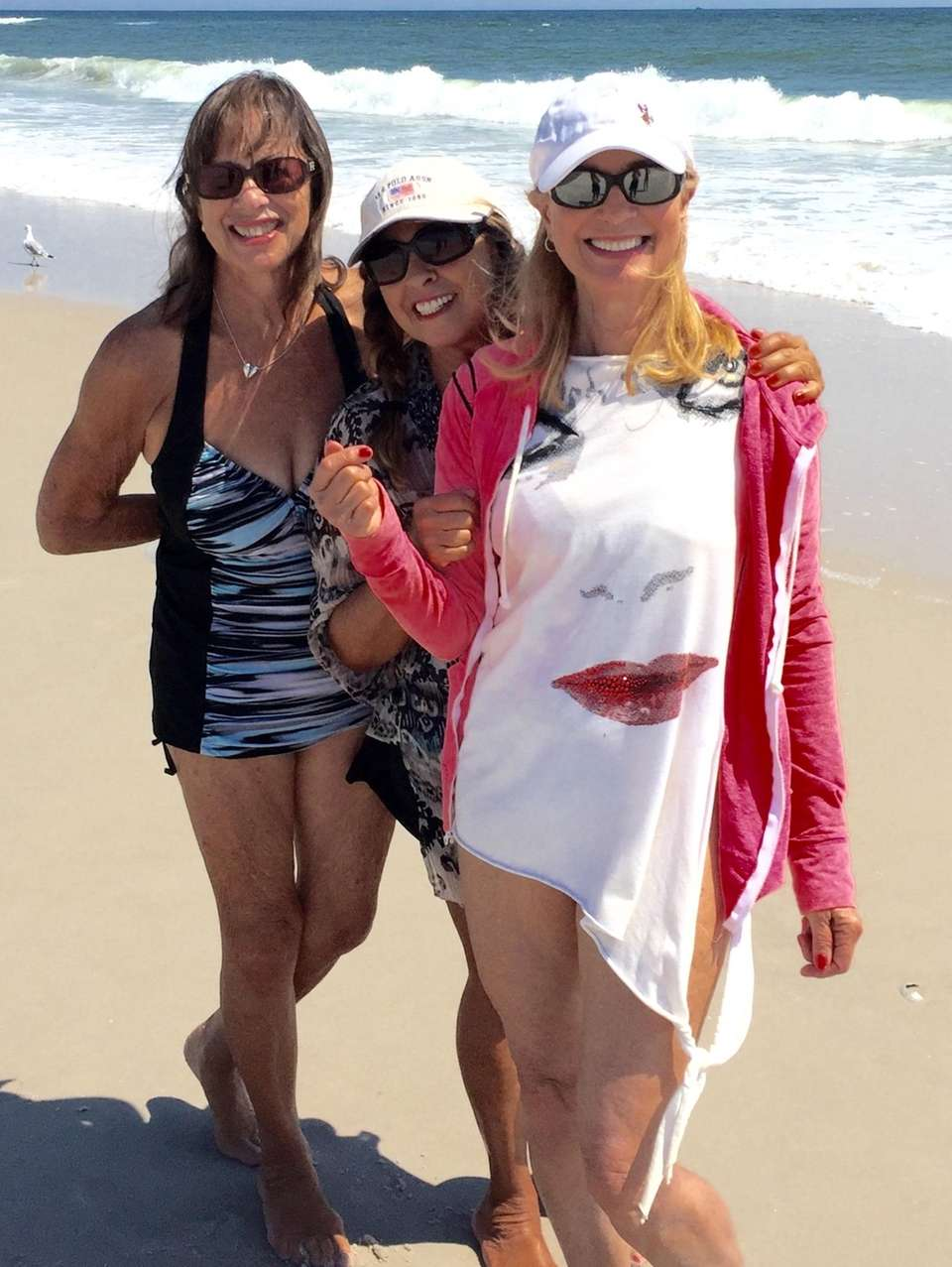3 Sisters enjoying Robert Moses beach Debbie Daidone