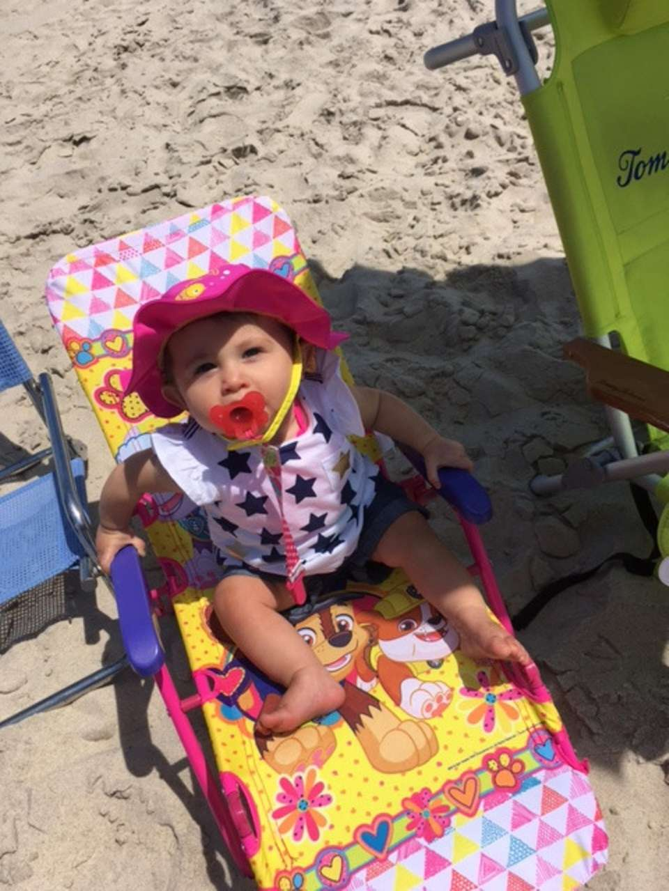 Gianna Blonder lounging at Robert Moses July 5,