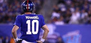Eli Manning of the New York Giants looks