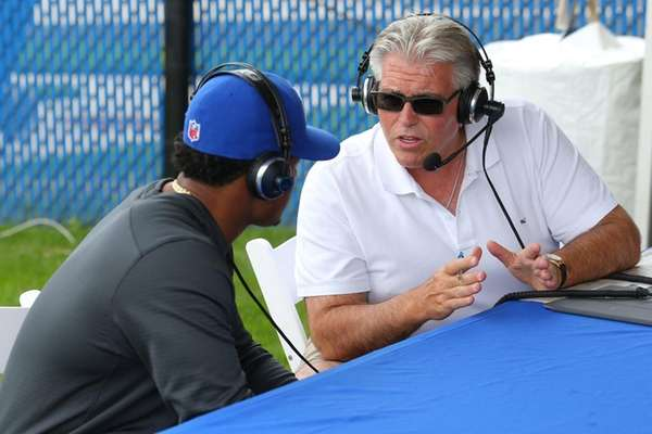 WFAN radio host Mike Francesa talks with the