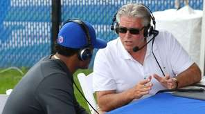 WFAN radio host Mike Francesa talks with the