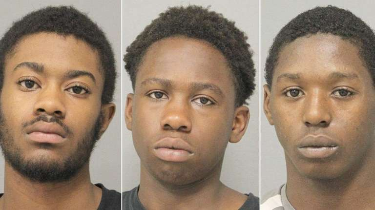 From left, Omar McFarlane, Isaiah Feliciano and Tziah