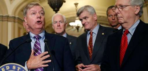 Sen. Lindsey Graham, on Capitol Hill on Tuesday,