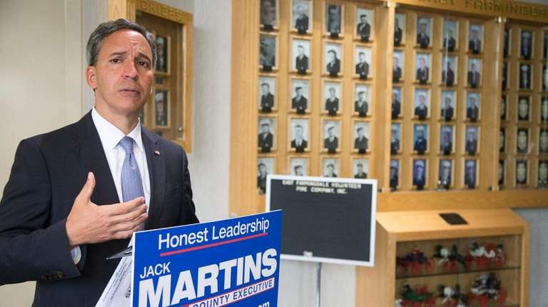 Nassau County Executive republican candidate Jack Martins announces