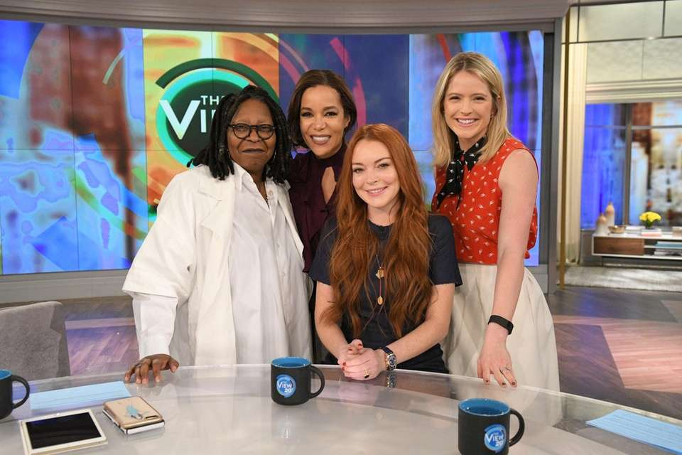 Lindsay Lohan appeared as a guest host on