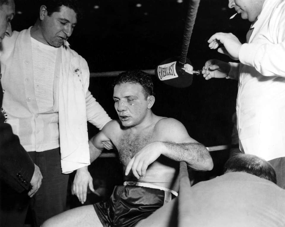Jake LaMotta, the former middleweight champion whose life