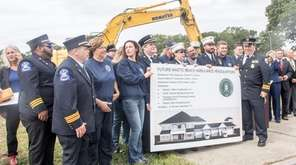 Brookhaven Town and Mastic Beach Village officials break