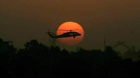 A U.S. Army Black Hawk helicopter, Oct 30,