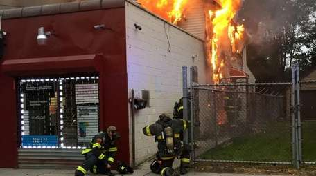 About 50 firefighters responded to a blaze on
