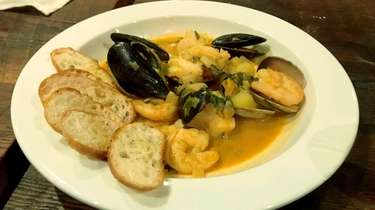 Bouillabaisse is one of the entrees on the