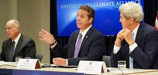 Gov. Andrew M. Cuomo with California Gov. Jerry