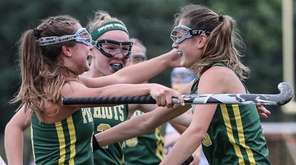 Jill Bove of Ward Melville gets congratulated after